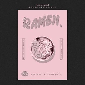Restaurant ramen noodles poster template
