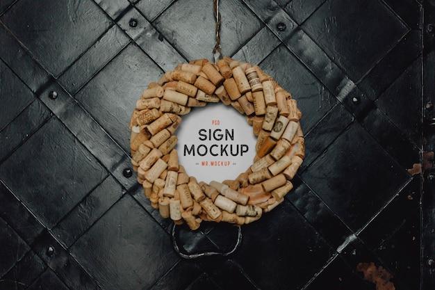 Restaurant sign mockup