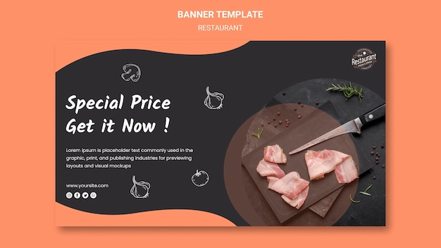 Restaurant special offer banner template