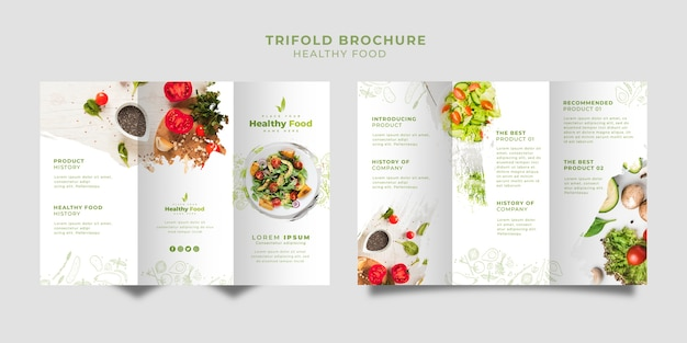 Restaurant trifold brochure set template