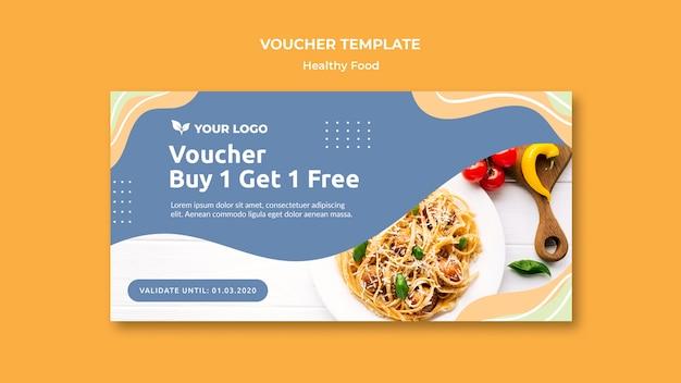 Restaurant voucher template design