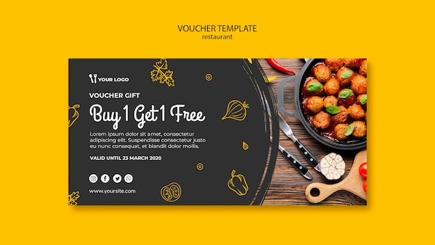 Restaurant voucher template