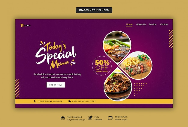 Restaurant web banner template