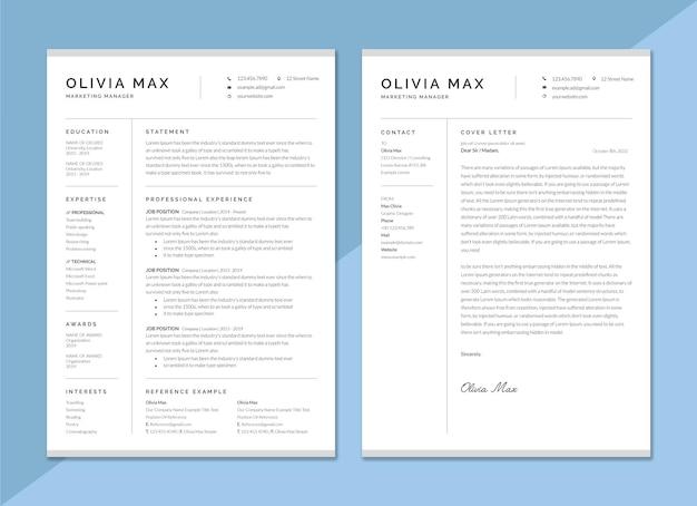 履歴書とカバーレター