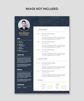 Resume or cv template editable