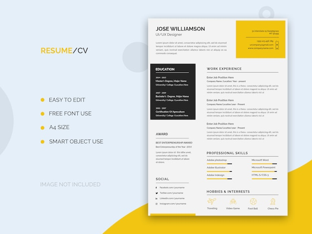 Resume or cv template