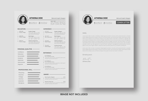Резюме с шаблоном оформления сопроводительного письма