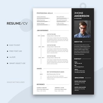 履歴書またはcvテンプレート
