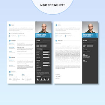 Resume template with photograph