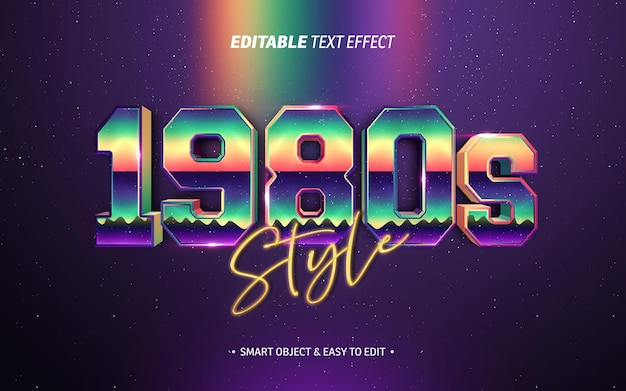 Retro 1980s style text effect