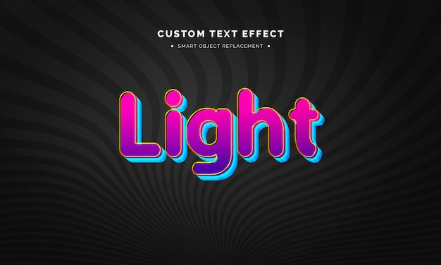 Retro 3d text style effect