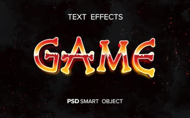 Текстовый эффект ретро-аркады