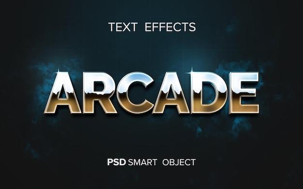 Retro arcade text effect