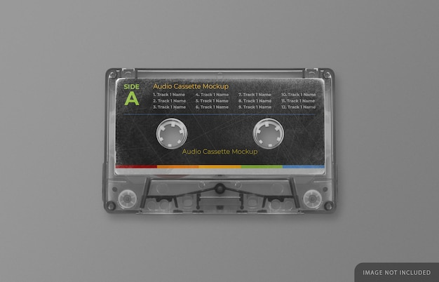 Retro audio cassette tape mockup