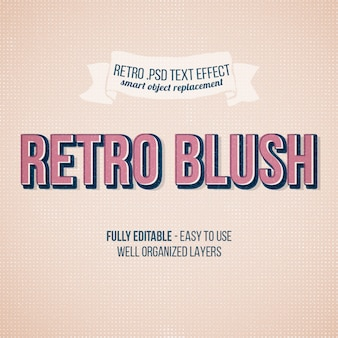Retro blush text effect