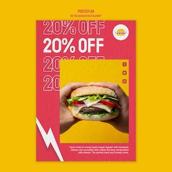 Retro burger restaurant style
