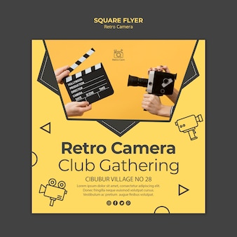 Retro camera flyer template