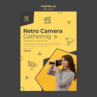 レトロなカメラポスター