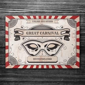 Retro carnival cover mockup