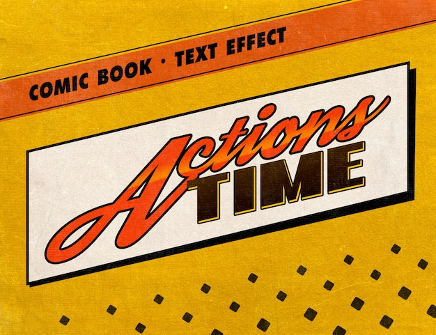 Retro comic book text style