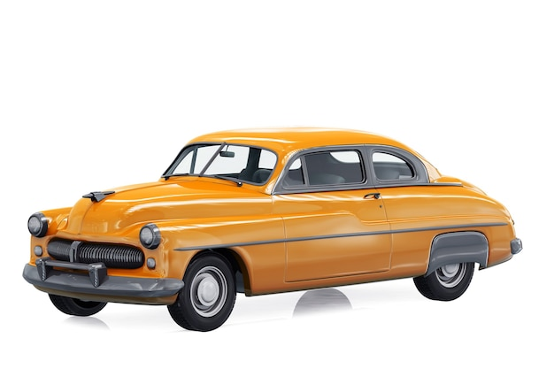 Retro coupe car 1949 mockup