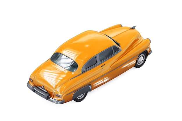 Mockup di auto coupé retrò 1949