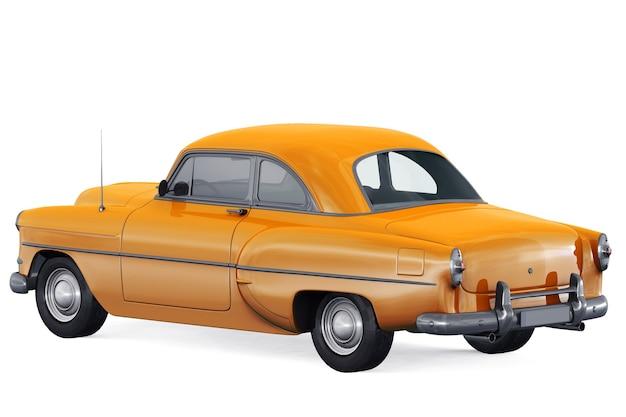 Retro coupe car 1953 mockup