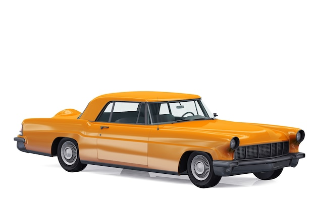 Mockup di auto coupé retrò 1956