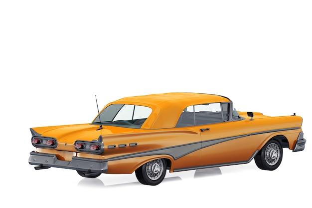Mockup di auto coupé retrò 1958
