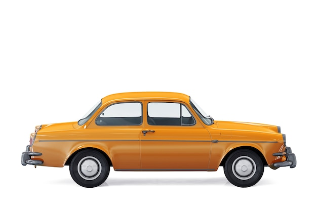 Mockup di auto coupé retrò 1961