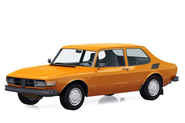 Mockup di auto coupé retrò 1972