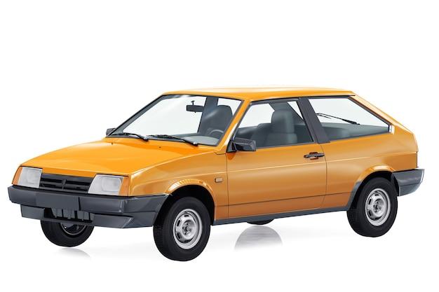 Mockup di auto coupé retrò 1984