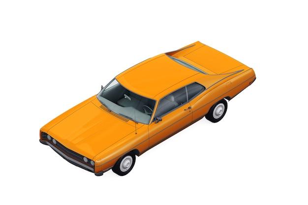 Retro coupe car mockup