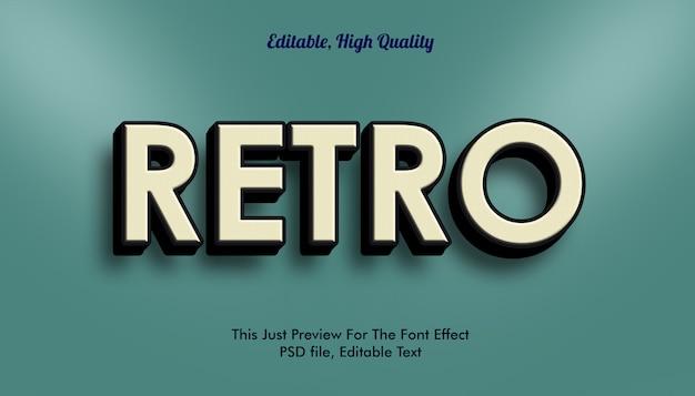 Retro font effect