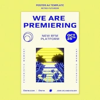 Retro-futurism print template
