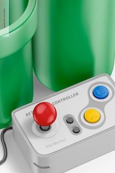 Retro game controller mockup, close up