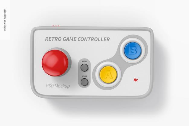 レトロなゲームコントローラーのモックアップ、上面図