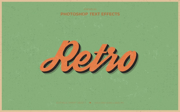 Retro grunge text effect mockup