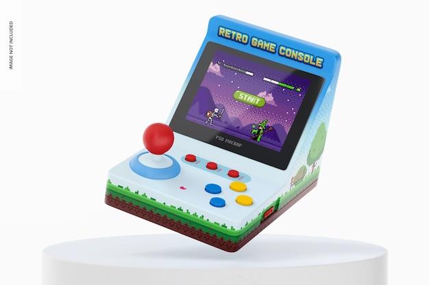 Ретро-макет портативной игровой консоли, падение