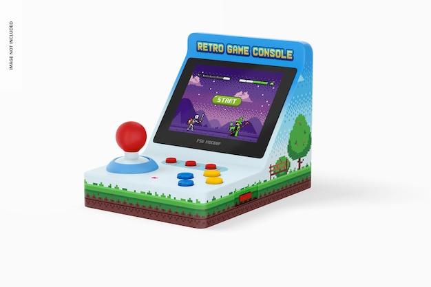 Ретро-макет портативной игровой консоли, перспектива