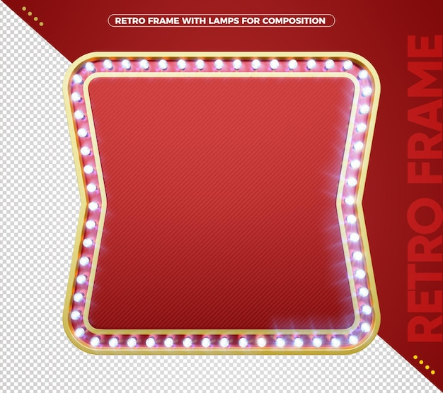 Retro led board with golden aluminum edges for composition