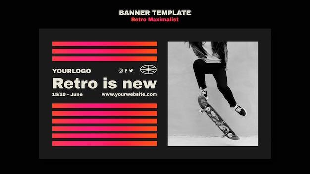 Retro maximalist banner template