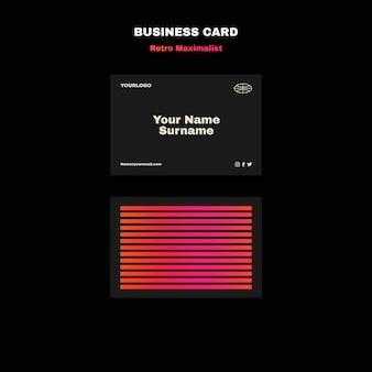 Ретро максималистский шаблон визитной карточки