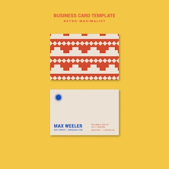 Ретро-максималистский шаблон визитки