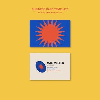 Retro-maximalist business card
