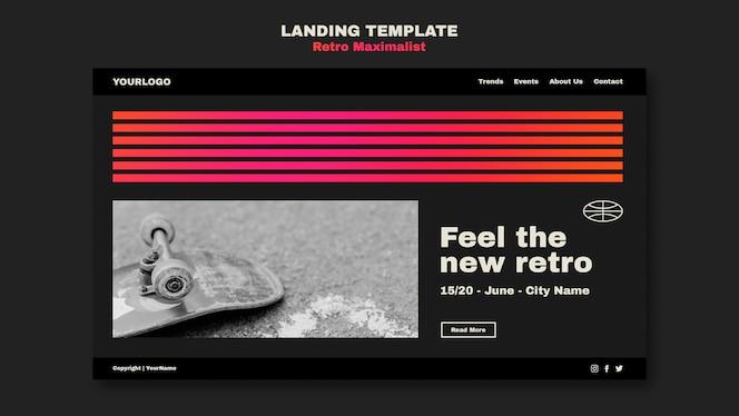 retro maximalist landing page template