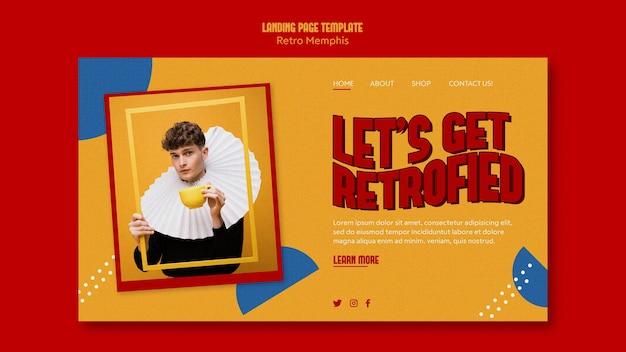 Retro memphis landing page