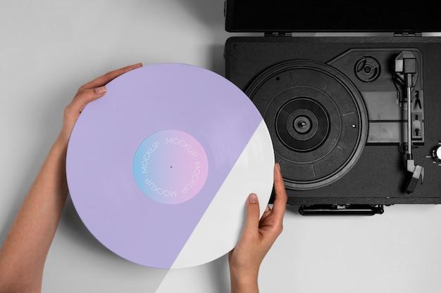 Ретро-макет винилового диска абстрактная упаковка