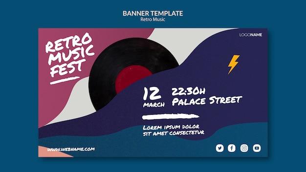 Retro music banner template