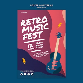 Retro music poster style